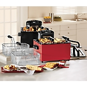 Chef Tested ® 4-Qt. Triple Basket Deep Fryer by Montgomery Ward ®