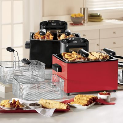 Chef Tested 174 4 Qt Triple Basket Deep Fryer By Montgomery