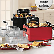 chef tested 4 qt  triple basket deep fryer by montgomery ward