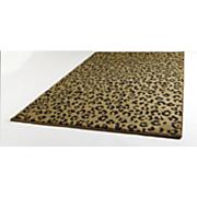 Sculpted Leopard Print Rug