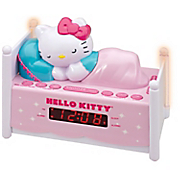 hello kitty sleeping kitty alarm clock radio w night light