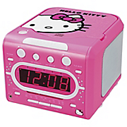 hello kitty amfm stereo alarm clock radio w top loading cd player