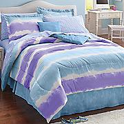 watercolor stripe decorative pillow