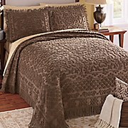 Julian Tile Chenille Bedspread and Sham