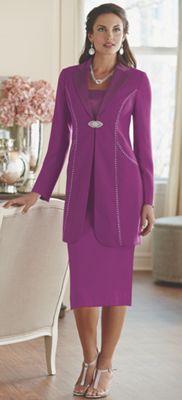 Delphine Rhinestone Skirt Suit