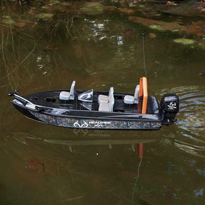 Remote control camo fishing boat by realtree from through for Remote control fishing boats