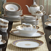 47-Piece Gold-Accented Legacy Dinnerware Set