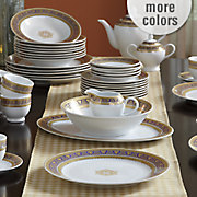 47 pc  gold accented legacy dinnerware set