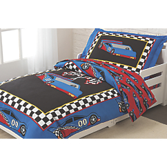 kidkraft racecar toddler bedding set
