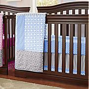 logan 3 pc  crib set and valance