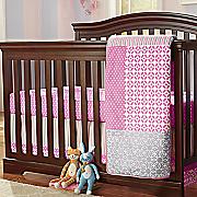 lily 3 pc  crib set and valance