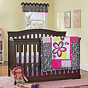 zahara 3 pc  crib set and valance