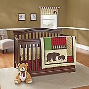 northwoods 3 pc  crib set and valance