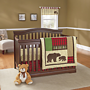 Northwoods 3-Piece Crib Set and Valance