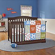 little mvp 3 pc  crib set and valance