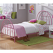 twin heart bed