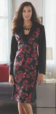 Fleur Rose Print Suit