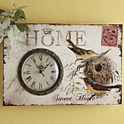 vintage postcard clock