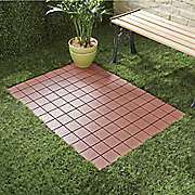 set of 12 interlocking patio tiles 10