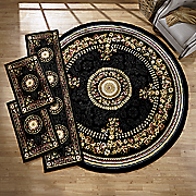 4 pc  center medallian rug set