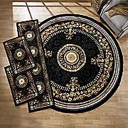 4 pc  center medallian rug set
