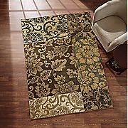 patchwork floral rug
