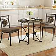 3 pc  faux marble dining set
