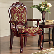 hand carved  venetian  accent chair