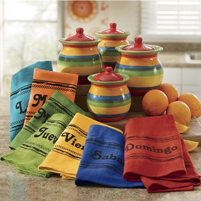 7-Piece Los Dias De La Semana Towels Set