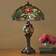 Stained Glass Double Lit Table Lamp