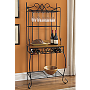 diamond baker s rack with wine service