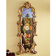 domed  vertical floral wall decor