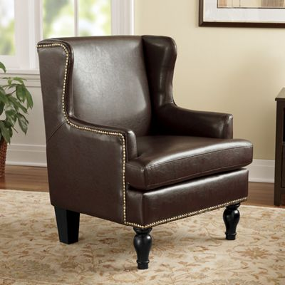 Nailhead Accent Chair From Midnight Velvet 724507