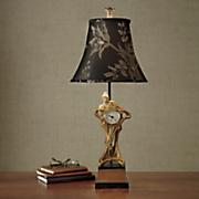 Art Deco Clock Lamp