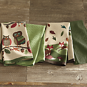set of 4 woodland critters towels