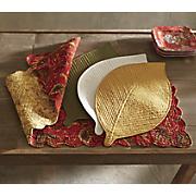 set of 2 elm leaf placemats