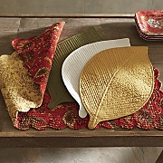 set of 2 elm leaf placemats