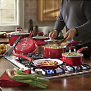 guy fieri s 12 pc  ceramic nonstick aluminum nonstick cookware set