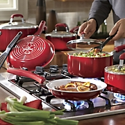 Guy Fieri's 12-Piece Ceramic Nonstick Aluminum Cookware Set