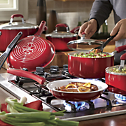 guy fieri s 12 pc  ceramic nonstick aluminum nonstick cookware set