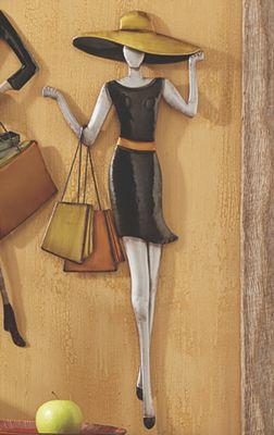 Black Dress Shopping Lady