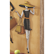shopping diva metal wall art