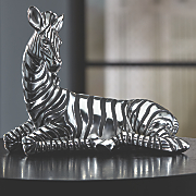 Seated Zebra Figurine