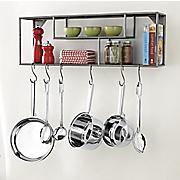 wall shelf pot rack