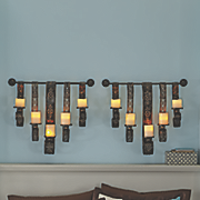 6 pc  hanging sconces