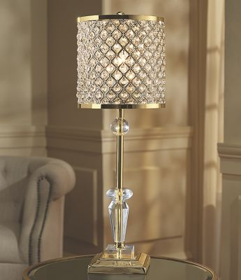 Beaded Metal Table Lamp