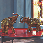 Set of 2 Elephant Figurines