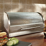 Brushed Stainless Steel Breadbox