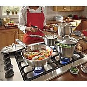 Ginny's Brand 10-Piece Stainless Steel Cookware Set