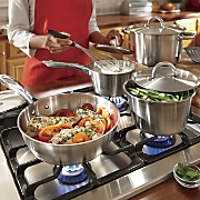 ginny s brand 10 pc  stainless steel cookware set